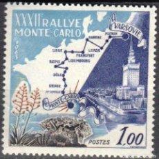 Sellos: MONACO - 1 SELLO IVERT 614 (1 VALOR) - RUTA VARSOVIA MONTECARLO 1963 - NUEVO-GOMA ORIGINAL. Lote 151564194
