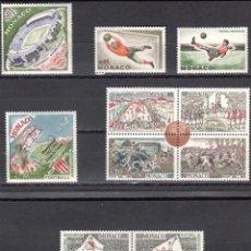 Sellos: MONACO - 1 SERIE IVERT 620-31 (12 VALORES) - ASOCIACION BRITANICA FUTBOL 1963 - NUEVO-GOMA ORIGINAL. Lote 151565050