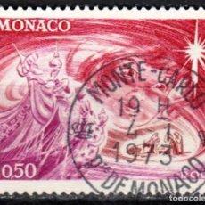 Sellos: MONACO - 1 SELLO IVERT 901 (1 VALOR) - NAVIDAD 1972 - USADO. Lote 151565870