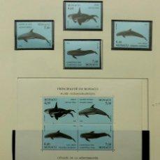 Sellos: SELLOS MONACO 1994- FOTO 091- BLOQUE Y 4 SELLOS, MUSEO OCEANOGRAFICO. Lote 155055474