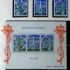 Sellos: SELLOS MONACO 1982- FOTO 701- NUEVO, BLOQUE NAVIDAD Y 3 SELLOS. Lote 155055990