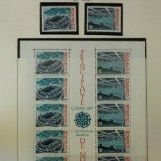 Sellos: SELLOS MONACO 1987- FOTO 074- EUROPA NUECVO, BLOQUE Y 2 SELLOS. Lote 155056562