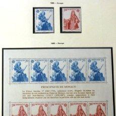 Sellos: SELLOS MONACO 1985- FOTO 859- EUROPA, NUEVO, BLOQUE Y 2 SELLOS. Lote 155057114