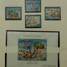 Sellos: SELLOS MONACO 1994- BLOQUE Y 4 SELLOS, NUEVOS, ALBARICOQUERO. Lote 155126950