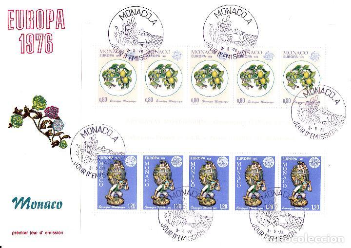 SPD - FDC MONACO CEPT 1976 - SOLICITE SUS FALTAS DE SELLOS Y SPD TEMATICA EUROPA (Sellos - Extranjero - Europa - Mónaco)