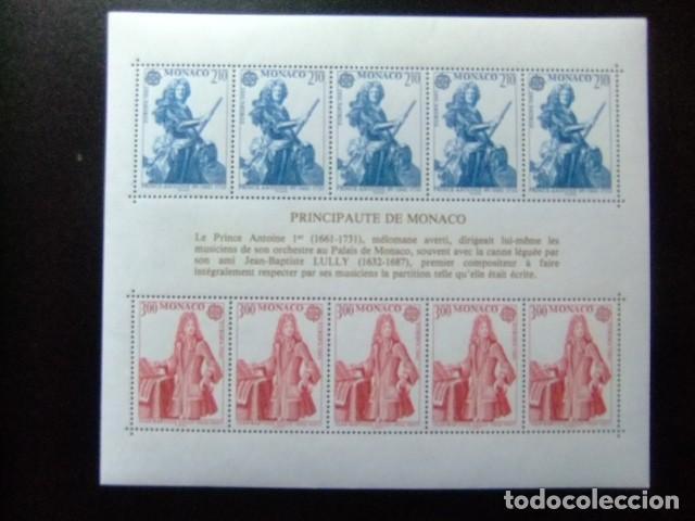 MONACO 1985 EUROPA CEPT LE PRINCE ANTOINE 1 (1661-1731) YVERT BLOC 30 ** MNH (Sellos - Extranjero - Europa - Mónaco)