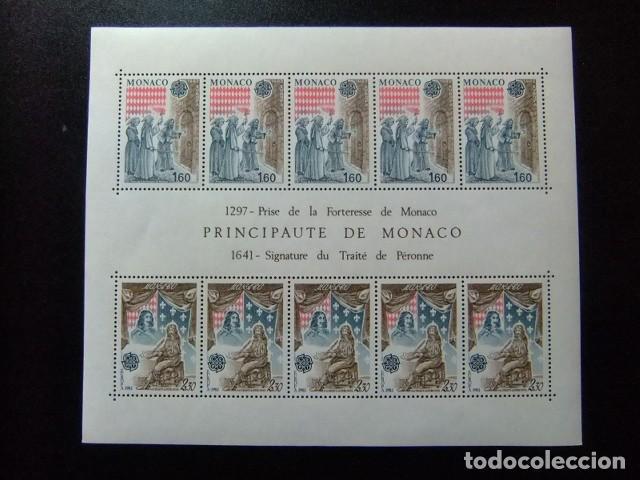 MONACO 1982 EUROPA CEPT PRISE DE LA FORTERESSE DE ONACO YVERT BLOC 22 ** MNH (Sellos - Extranjero - Europa - Mónaco)