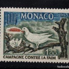 Timbres: MONACO 611** - AÑO 1963 - CAMPAÑA MUNDIAL CONTRA EL HAMBRE. Lote 167141108