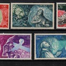 Timbres: MONACO 683/87** - AÑO 1966 - 7º CENTENARIO DEL NACIMIENTO DE DANTE ALIGHIERI. Lote 167141272