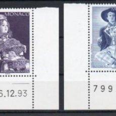 Sellos: MÓNACO AÑO 1994 YV 1919/22*** MUÑECAS DEL MUSEO NACIONAL DE AUTÓMATAS - JUGUETES. Lote 168638792
