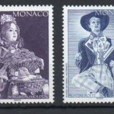 Sellos: MÓNACO AÑO 1994 YV 1919/22*** MUÑECAS DEL MUSEO NACIONAL DE AUTÓMATAS JUGUETES. Lote 168638840