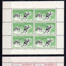 Sellos: NUEVA ZELANDA AÑO 1957 YV HB 1/2*** PRO OBRAS PARA LA SALUD INFANTIL - DEPORTES - NATACIÓN. Lote 168640540
