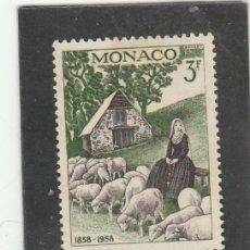 Sellos: MONACO 1958 - YVERT NRO. 494 - CHARNELA. Lote 171180270