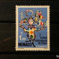 Timbres: SELLO NUEVO. III FESTIVAL DEL CIRCO DE MONTECARLO. 9 DE NOVIEMBRE DE 1976. YVERT 1078.. Lote 91741845
