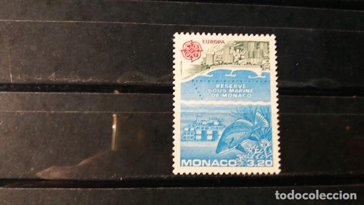SELLO NUEVO. EUROPA. PROTECCIÓN ANIMALES MARINOS. 22 DE MAYO DE 1986. YVERT 1521. (Sellos - Extranjero - Europa - Mónaco)