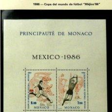 Sellos: SELLOS MONACO 1986 - FOTO 880- BLOQUE NUEVO. Lote 177639567