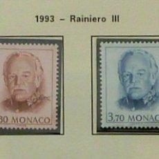 Sellos: SELLOS MONACO 1993 - FOTO 098 - COMPLETA, NUEVO. Lote 177775262