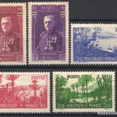 Sellos: MONACO, 1937 YVERT Nº 135 / 139 /*/ . Lote 179024476