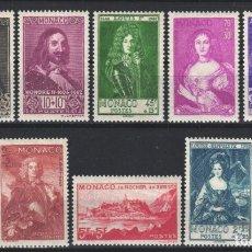 Sellos: MONACO, 1939 YVERT Nº 185 / 194 /*/ . Lote 179025732