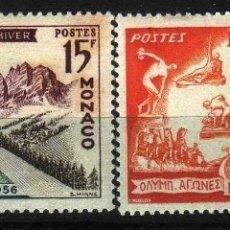 Timbres: GIROEXLIBRIS.- MÓNACO 1956 JUEGOS OLÍMPICOS.. YVERT Nº 442/43* WINTER OLYMPIC GAMES. Lote 181168091