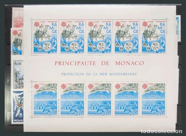 MÓNACO. MNH **YV . 1986. AÑO COMPLETO 1986 (INCLUYE HOJAS BLOQUE). MAGNIFICO. YVERT 2016: 178 EUROS (Sellos - Extranjero - Europa - Mónaco)