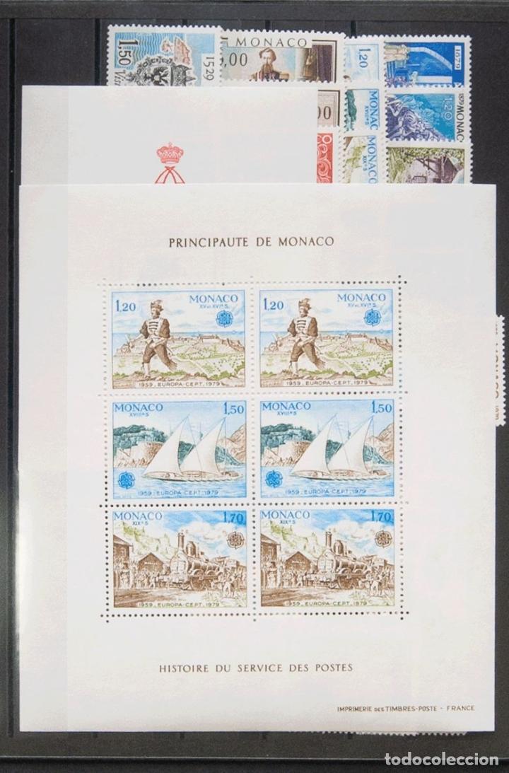MÓNACO. MNH **YV . 1979. AÑO COMPLETO 1979 (INCLUYE HOJAS BLOQUE). MAGNIFICO. YVERT 2016: 118 EUROS (Sellos - Extranjero - Europa - Mónaco)