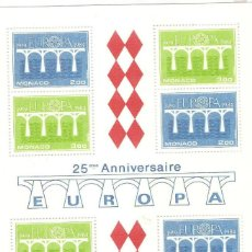 Sellos: MONACO,1984,HOJITA,YT BF 28,GOMA ORIGINAL,SIN FIJASELLOS,NUEVA.. Lote 186370942