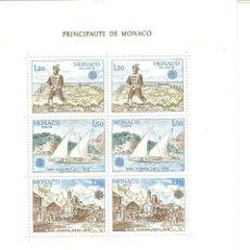 Sellos: MONACO,1979,HOJITA YT BF 17 GOMA ORIGINAL,SIN FIJASELLOS. NUEVA.. Lote 186375148