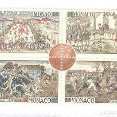 Sellos: MONACO,1963,YT. 624,SE-TENANT,NUEVOS,G.ORIGINAL,FIJASELLOS.. Lote 186385122