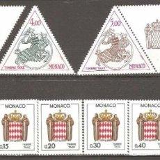 Sellos: MONACO,1982,CAT.YT.T 71 Y 72,CON VIÑETA.1983,YT.T 73 Y 74.1985 YT.T75 A 82.. Lote 186404930