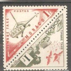Sellos: MONACO,1954, YT MC P39A Y B,NUEVOS,G.ORIGINAL, FIJASELLOS. . Lote 187217006