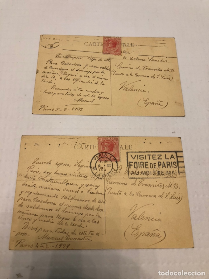 POSTALES CON SELLOS MÓNACO 1929 (Sellos - Extranjero - Europa - Mónaco)