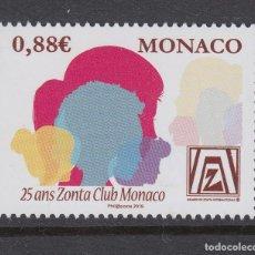 Sellos: MONACO 2019 25 ANIVERSARIO DEL CLUB ZONTA DE MONACO. Lote 191545582