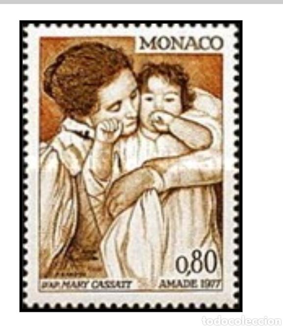 LOTE 4 SELLOS IGUALES MÓNACO 1977 (Sellos - Extranjero - Europa - Mónaco)