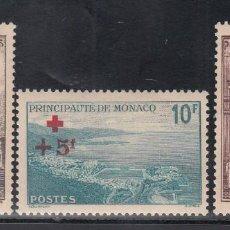 Sellos: MONACO, 1940 YVERT Nº 212, 213, 214, /*/, CRUZ ROJA . Lote 196220596