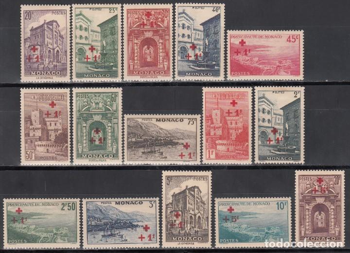 MONACO, 1940 YVERT Nº 200 / 214 /*/, CRUZ ROJA (Sellos - Extranjero - Europa - Mónaco)