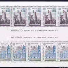 Timbres: MÓNACO 1977 EUROPA CEPT YVERT 1101-1102 HOJA BLOQUE NUEVA SIN CHARNELA. Lote 197484160