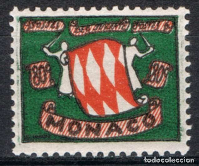 [CF7308A] MÓNACO 1954, ESCUDO DE ARMAS, 80 C. (MNH) (Sellos - Extranjero - Europa - Mónaco)