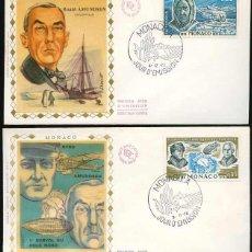 Sellos: MONACO 1972-1976. 2 FDC - ROALD AMUNDSEN - RICHARD BYRD Y ROALD AMUNDSEN. Lote 200324301