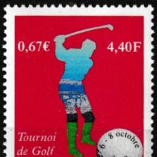 Sellos: MONACO 2000 - TORNEO DE GOLF DE CELEBRIDADES - YVERT Nº 2254**. Lote 203029555