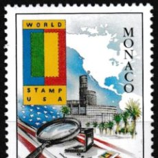 Sellos: MONACO 2000 - EXPO FILATELICA WORLD STAMP USA - YVERT Nº 2263**. Lote 203029585