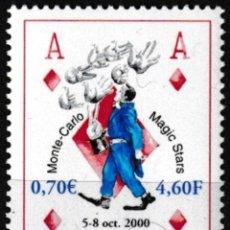 Sellos: MONACO 2000 - MONTECARLO MAGIC STARS - YVERT Nº 2264**. Lote 203029626