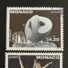Sellos: MONACO, EUROPA CEPT 1993, ARTE CONTEMPORÁNEO, USADA (FOTOGRAFÍA REAL). Lote 203311358