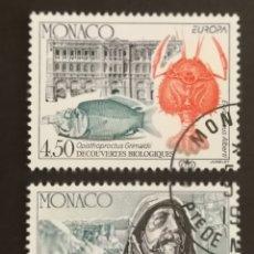 Sellos: MONACO, EUROPA Y LOS DESCUBRIMIENTOS 1994, USADA (FOTOGRAFÍA REAL). Lote 203344891