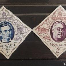 Timbres: MONACO N°445/46 MH, PRESIDENTES 1956 (FOTOGRAFÍA ESTÁNDAR). Lote 205118596