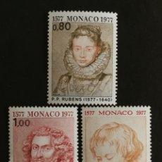 Sellos: MONACO, N°1098/00 MNH, RUBENS 1977 (FOTOGRAFÍA REAL). Lote 205173638