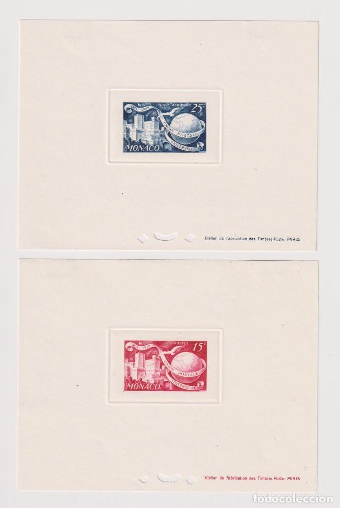 MÓNACO. PRUEBAS DE LUJO. 1949 UPU (UNIÓN POSTAL UNIVERSAL). 7 HB SIN DENTAR * (Sellos - Extranjero - Europa - Mónaco)