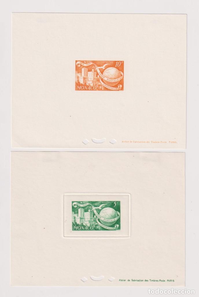 Sellos: Mónaco. Pruebas de lujo. 1949 UPU (Unión Postal Universal). 7 HB sin dentar * - Foto 5 - 205305988