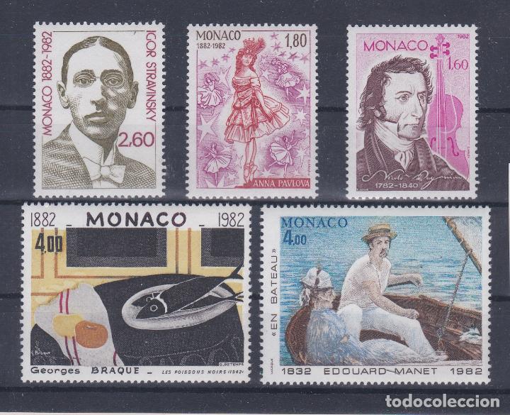 MONACO.- SERIE Nº 1344/48 PERSONAJES Y PINTURAS NUEVA SIN CHARNELA. (Sellos - Extranjero - Europa - Mónaco)