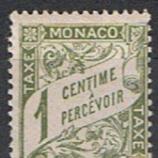 Sellos: MONACO // YVERT 1 TASA // 1905-09 ... NUEVO. Lote 207103788